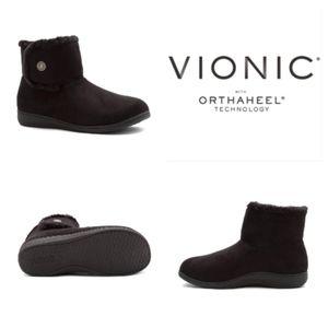 NEW! VIONIC® Indulge Vanah Orthaheel Black Boots